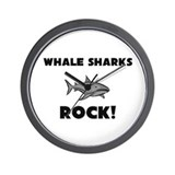 Whale Sharks Rock! Wall Clock