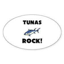 Tunas Rock! Oval Decal