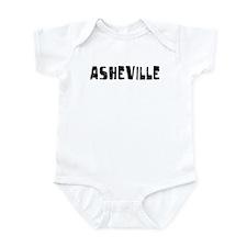 Asheville Faded (Black) Infant Bodysuit