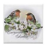 Euro Robins-Soft Tile Coaster