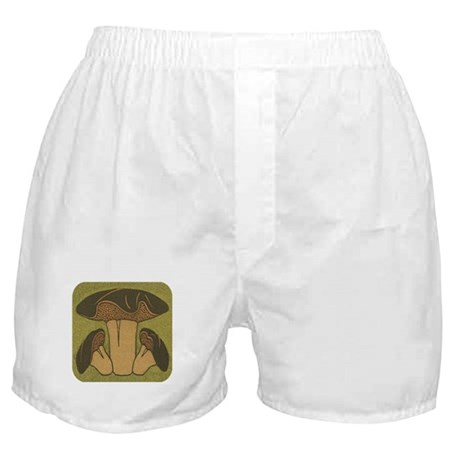 Brown Mushroom Boxer Shorts