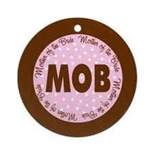 Polka Dot Bride's Mother Ornament (Round)