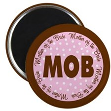 Polka Dot Bride's Mother Magnet