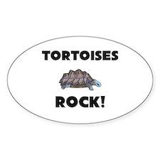 Tortoises Rock! Oval Decal