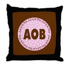 Polka Dot Bride's Aunt Throw Pillow