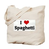I Love Spaghetti Tote Bag