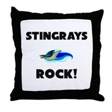 Stingrays Rock! Throw Pillow