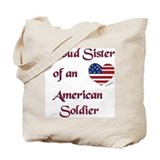 Proud Sister/Soldier Canvas Tote Bag