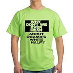 Obama's White Half Green T-Shirt