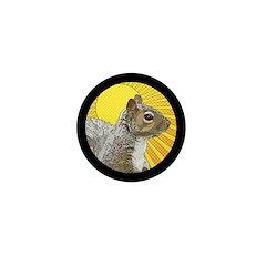 Pop Art Squirrel Mini Button