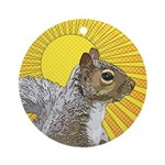 Pop Art Squirrel Ornament (Round)