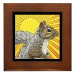 Pop Art Squirrel Framed Tile
