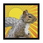 Pop Art Squirrel Tile Coaster