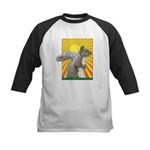 Pop Art Squirrel Kids Baseball Jersey