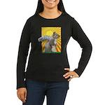 Pop Art Squirrel Women's Long Sleeve Dark T-Shirt