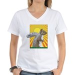 Pop Art Squirrel Women's V-Neck T-Shirt