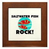 Saltwater Fish Rock! Framed Tile
