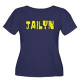 Jailyn Faded (Gold) Women's Plus Size Scoop Neck D