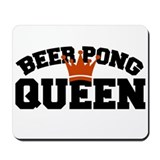 BEER PONG QUEEN ORANGE Mousepad