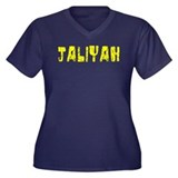 Jaliyah Faded (Gold) Women's Plus Size V-Neck Dark