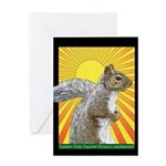 Pop Art Squirrel Greeting Card