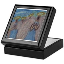 Six Angels Praying Keepsake Box