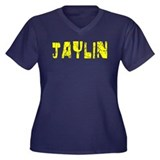 Jaylin Faded (Gold) Women's Plus Size V-Neck Dark