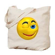 Silly Winking Face Tote Bag