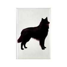 Black Belgian Shepherd Rectangle Magnet (10 pack)