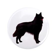 "Black Belgian Shepherd 3.5"" Button"