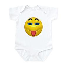 Cute Tongue Out Face Infant Bodysuit