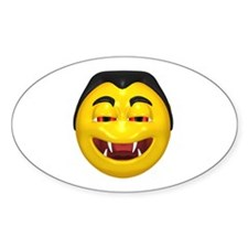 Laughing Vampire Face Oval Decal