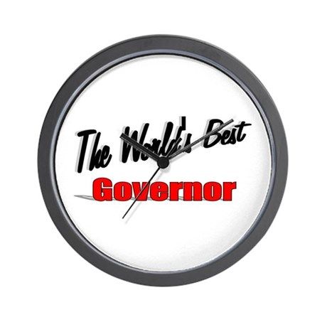 """The World's Best Governor"" Wall Clock"