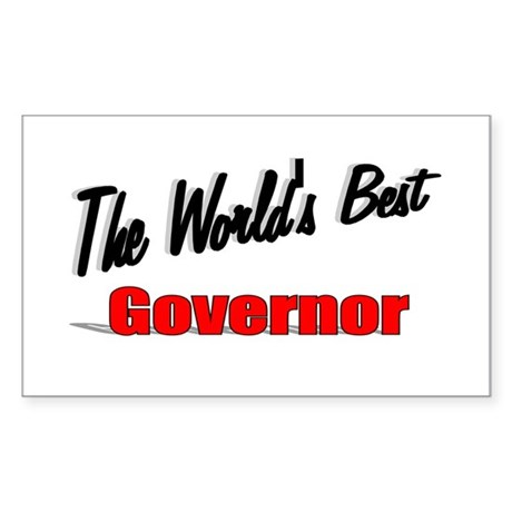 """The World's Best Governor"" Rectangle Sticker"