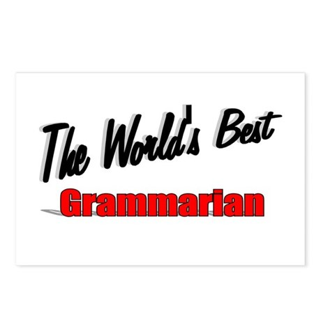 &quot;The World's Best Grammarian&quot; Postcards (Package o
