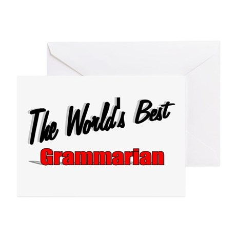 &quot;The World's Best Grammarian&quot; Greeting Cards (Pk o