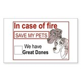 NMrlMlqn Fire Rescue Rectangle Decal