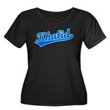 Retro Khalid (Blue) Women's Plus Size Scoop Neck D