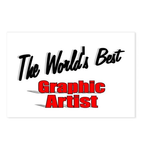 """The World's Best Graphic Artist"" Postcards (Packa"