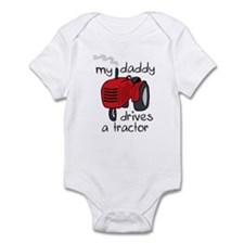 Daddy Drives A Tractor Infant Bodysuit