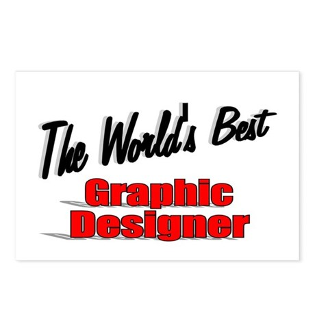 &quot;The World's Best Graphic Designer&quot; Postcards (Pac