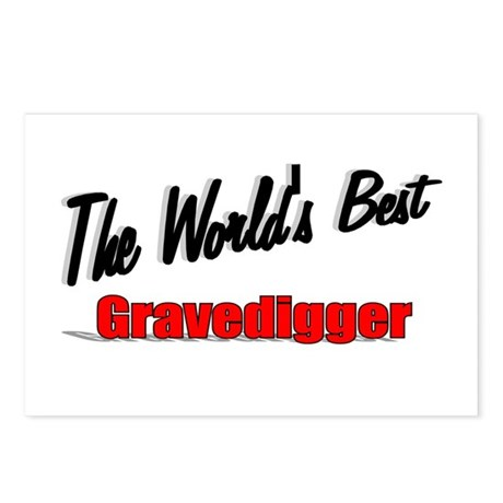 &quot;The World's Best Gravedigger&quot; Postcards (Package