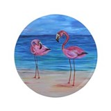 "Two Flamingos 3.5"" Button"