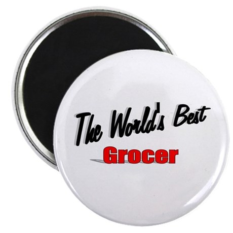 """The World's Best Grocer"" 2.25"" Magnet (100 pack)"