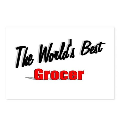 """The World's Best Grocer"" Postcards (Package of 8)"