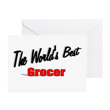 """The World's Best Grocer"" Greeting Cards (Pk of 10"