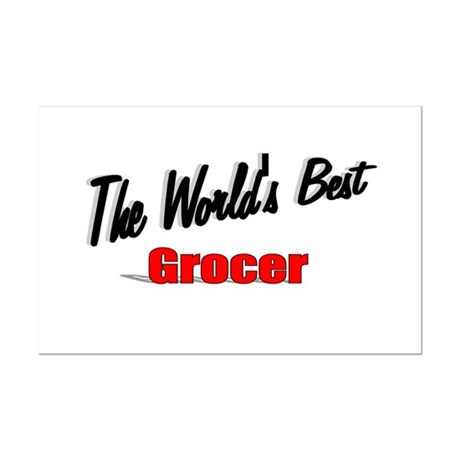 """The World's Best Grocer"" Mini Poster Print"
