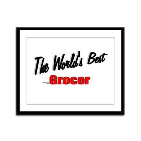 """The World's Best Grocer"" Framed Panel Print"