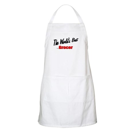 """The World's Best Grocer"" BBQ Apron"