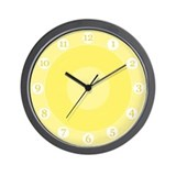 Sunny Yellow Wall Clock